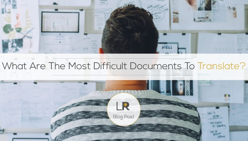 Most Difficult Documents To Translate